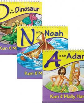 adam dinosaur noah ken ham flip books set aig mb