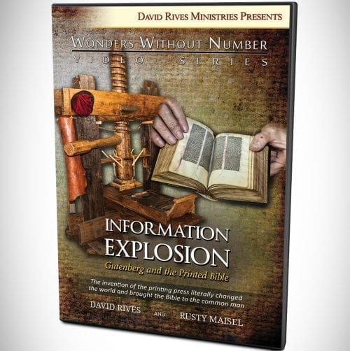Information Explosion - Gutenberg and the Printed Bible DVD