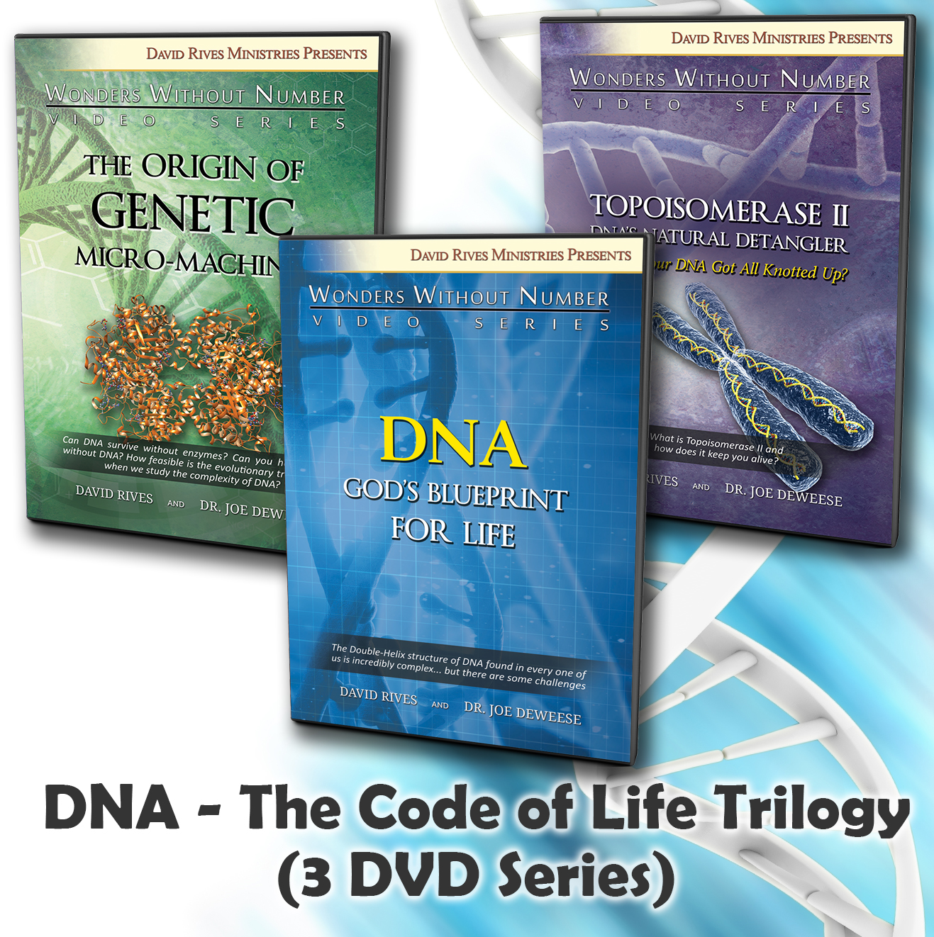 Dna gods blueprint for life dvd dr joe deweese drm the design and complexity of dna trilogy dvd series malvernweather Images