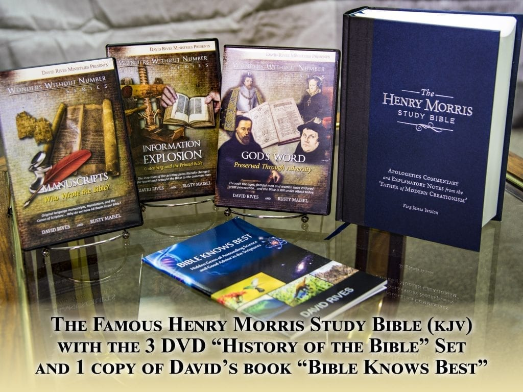 The Bible Super Pack | 2 Books and 3 DVDs | David Rives Ministries