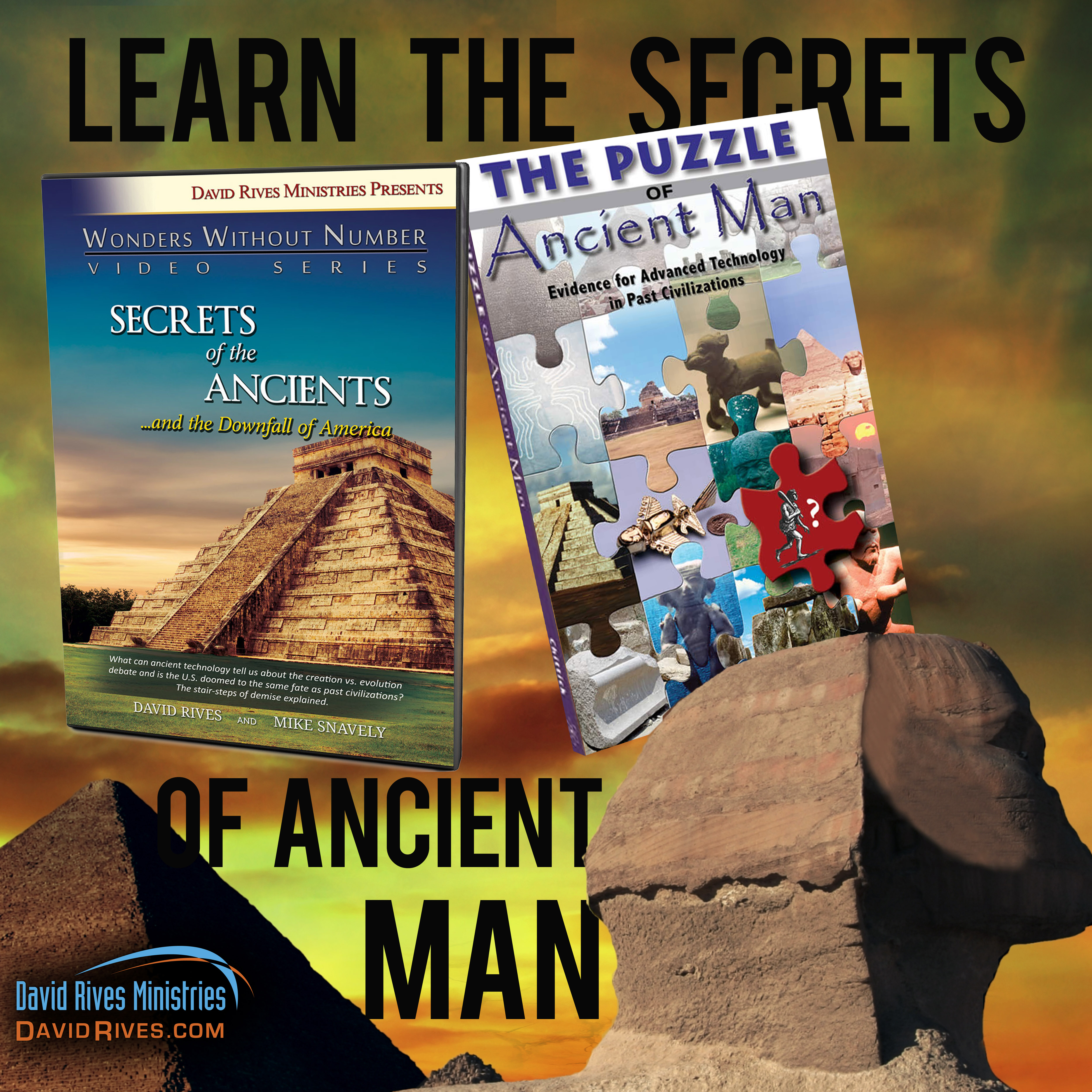 The Ancient Man Book and DVD Combo