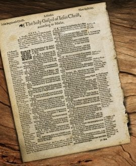 Genuine 1614 Geneva Bible Page with